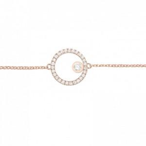 Bracelet Cercle, Or rose,...