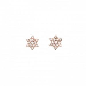 Earrings Stars, Rose gold,...
