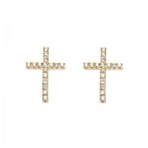 Earrings Cross, Yellow...