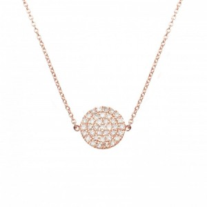 Necklace plated pink gold...