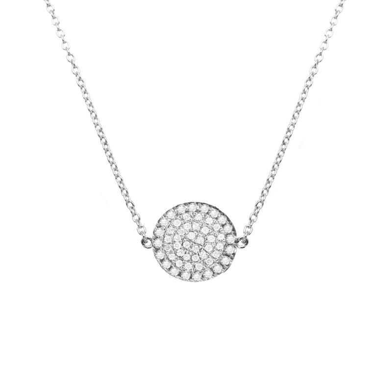 collier argent petit diamant