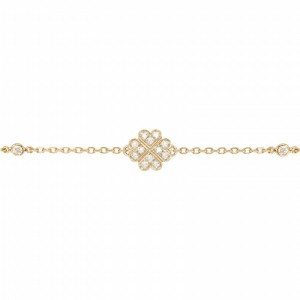 Clover bracelet yellow Gold...