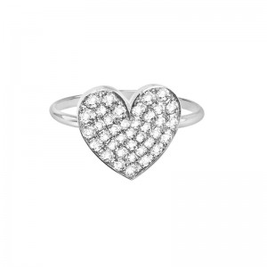 Ring Heart, White gold,...