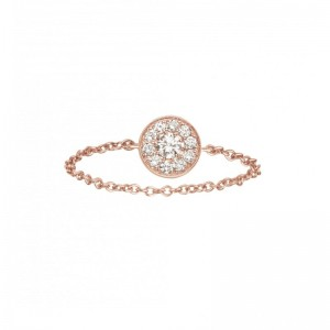 Chain Ring Round Rose gold...