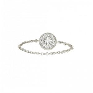Chain Ring Round Charm,...