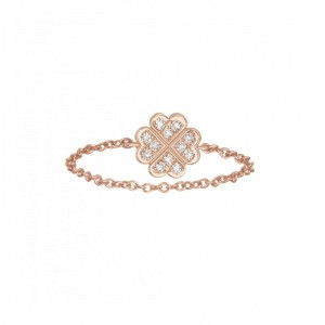 Chain Ring Clover Rose gold...