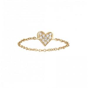 Chain Ring Heart Yellow...