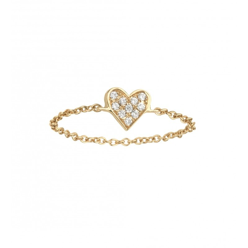 bague diamant chainette