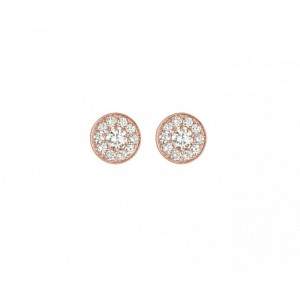 Round Earrings rose gold...