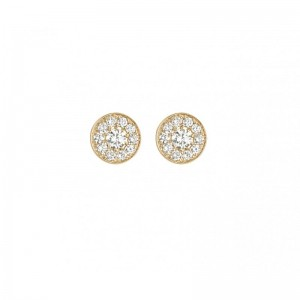 Round Earrings Yellow gold...