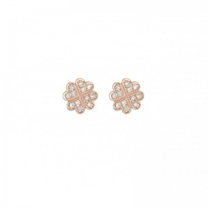 Clover earrings rose Gold...
