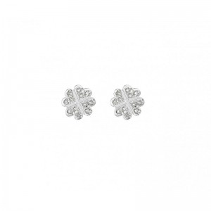 Clovers Earrings, White...