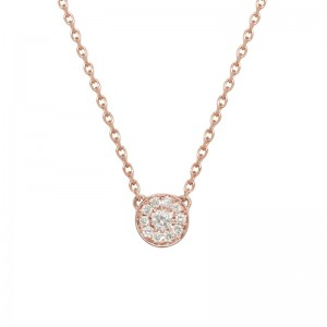 Round necklace rose Gold...