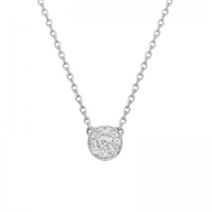Round necklace White gold...