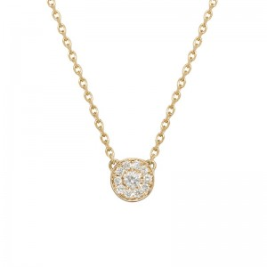Round necklace yellow Gold...