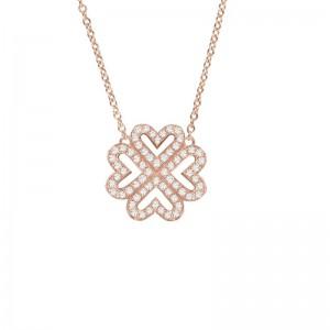 Lover Clover Necklace, Rose...