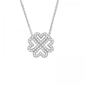 Clover necklace white Gold...