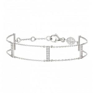 Bracelet Goldway, Or blanc,...