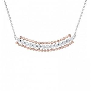 Trio Necklace, White and...