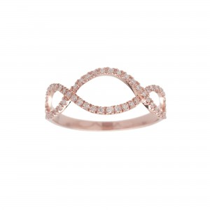 Bague Infini, Or rose,...