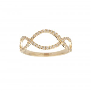 Infini Ring, Yellow gold,...