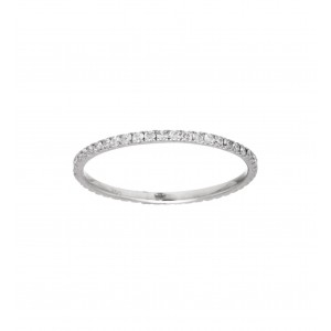 Knuckle ring white Gold and...