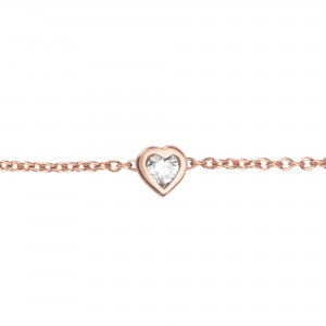 Identity18K金心形钻石手链