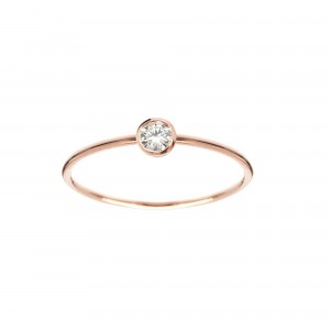 Bague Identity, Or rose,...