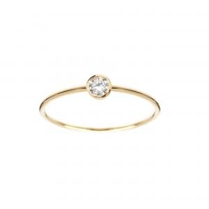 Bague Or jaune et Diamant...