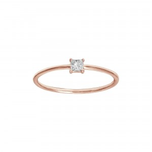 Ring rose Gold and princess...