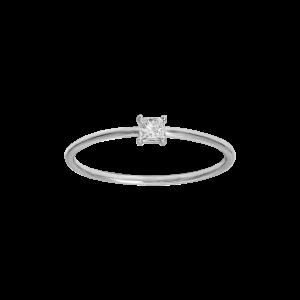 Identity18K金公主形钻石戒指