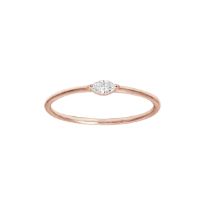Bague, Or rose, Diamant...