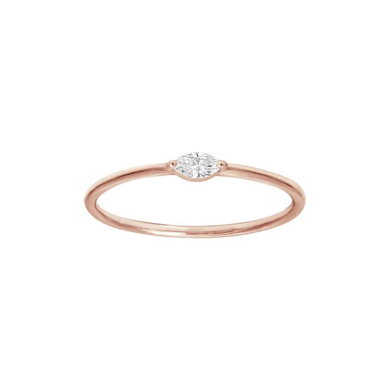 Identity Ring Rose Gold And Marquise Diamond Vanessa Tugendhaft Joaillerie