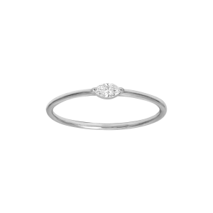 Identity18K金马眼形钻石戒指