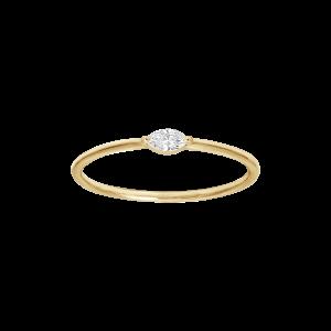 Bague,  Or jaune, Diamant...
