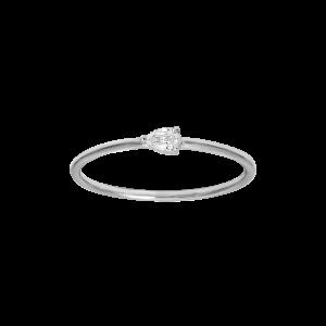 Ring, Pear diamond, White gold
