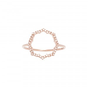 Bague Blossom, Or rose,...