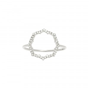 Bague Blossom, Or blanc,...