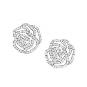 Earrings La Rose, Silver,...