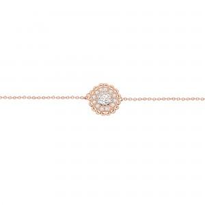 Bracelet Button, Rose gold,...