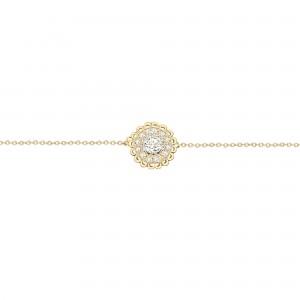 Bracelet Bouton, Or jaune,...