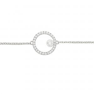 Bracelet Cercle, Or blanc,...