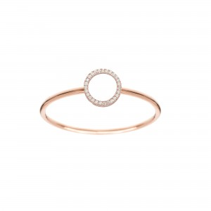 Bague Cercle, Or rose,...