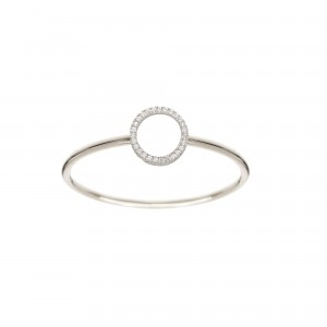 Bague Cercle, Or blanc,...