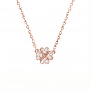 Clover Necklace, rose gold,...