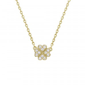 Clover Necklace, Yellow...