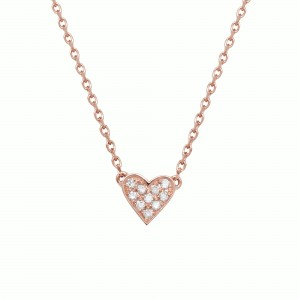 Necklace Charms Heart, Rose...
