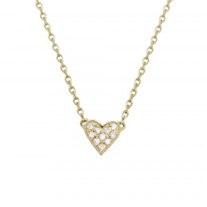 Heart necklace yellow Gold...