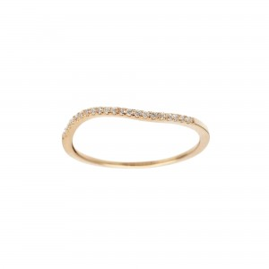 Wave Ring, Yellow gold,...