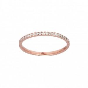 Bague anneau Or rose et...